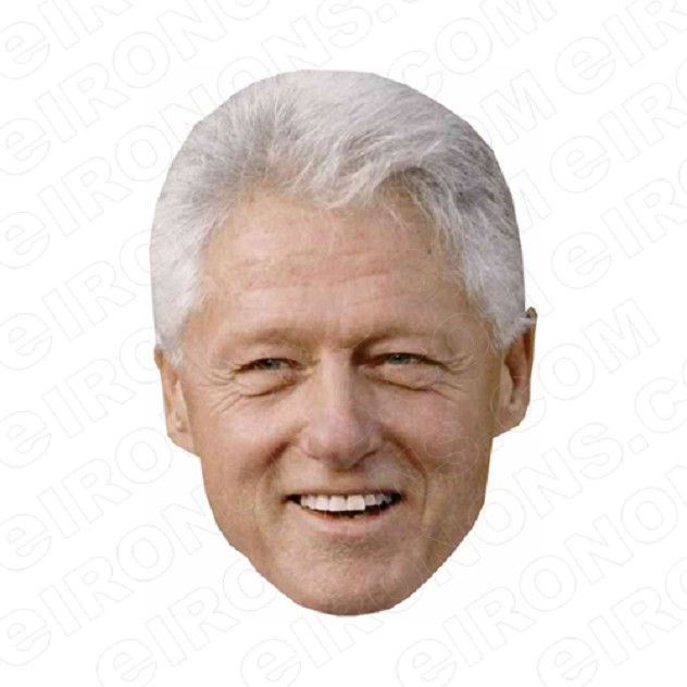 BILL CLINTON SMILING BIG HEAD POLITICAL DEMOCRAT T-SHIRT IRON-ON TRANSFER DECAL #PDBC1