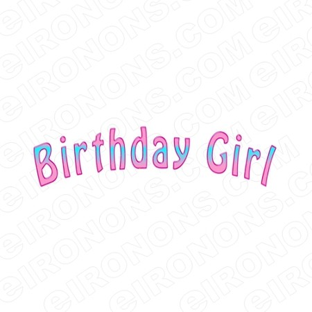 BIRTHDAY GIRL T-SHIRT IRON-ON TRANSFER DECAL #BG1