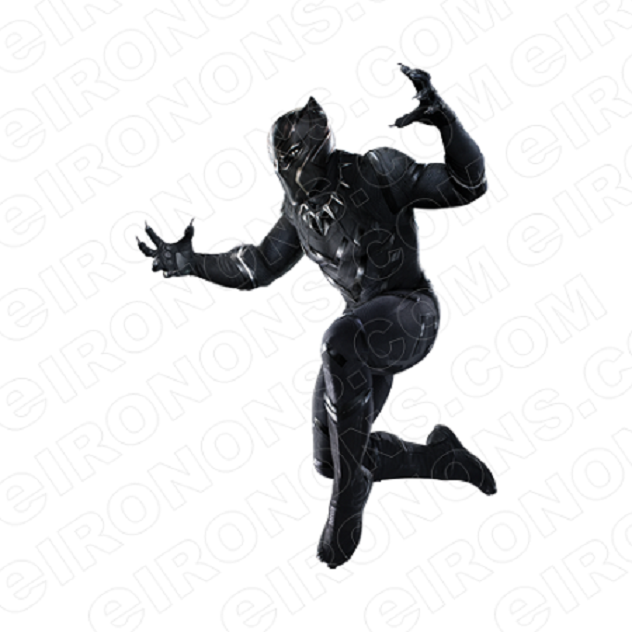 BLACK PANTHER HANDS OUT COMIC T-SHIRT IRON-ON TRANSFER DECAL #CBP3