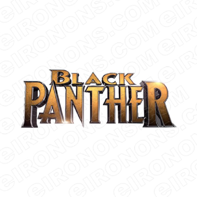BLACK PANTHER LOGO COMIC T-SHIRT IRON-ON TRANSFER DECAL #CBP7