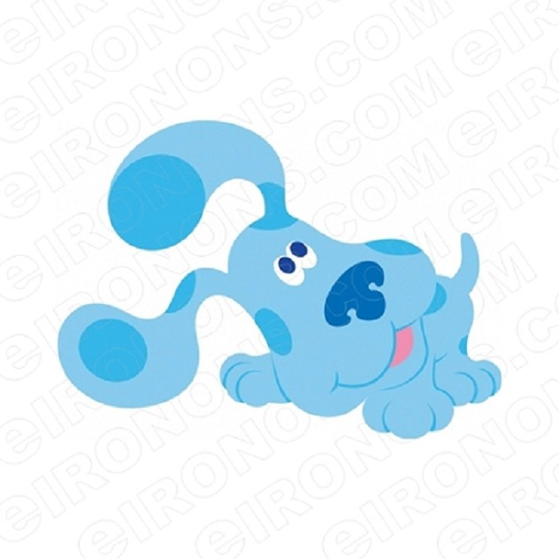 BLUE'S CLUES BLUE LISTENING CHARACTER T-SHIRT IRON-ON TRANSFER DECAL #CBC5