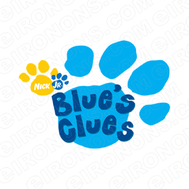 BLUE'S CLUES LOGO CHARACTER T-SHIRT IRON-ON TRANSFER DECAL #CBC9