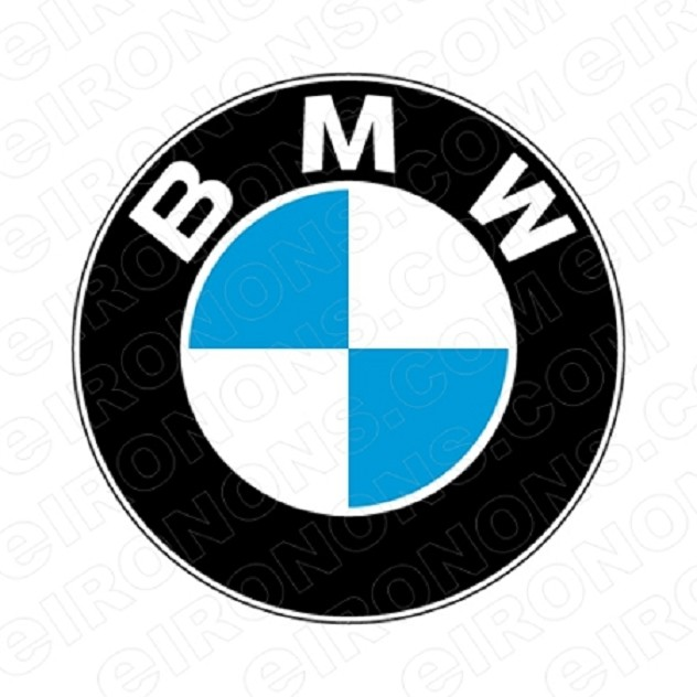 BMW LOGO AUTO T-SHIRT IRON-ON TRANSFER DECAL #ABMW2