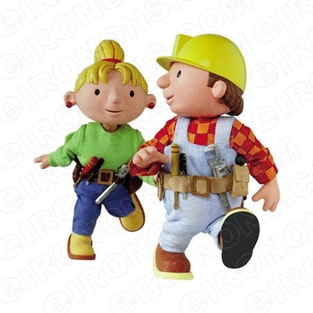 BOB THE BUILDER BOB AND WENDY CHARACTER T-SHIRT IRON-ON TRANSFER DECAL #CBTB1