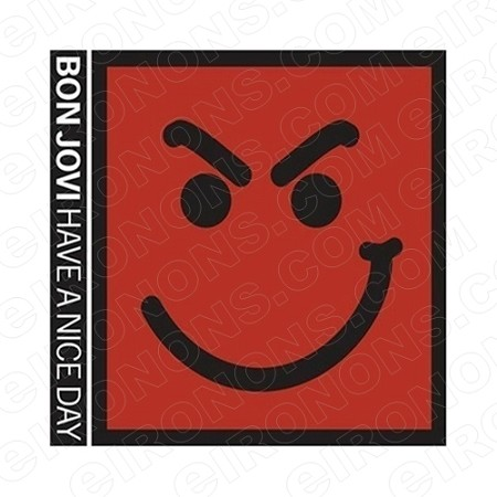 BON JOVI HAVE A NICE DAY MUSIC T-SHIRT IRON-ON TRANSFER DECAL #MBJ5