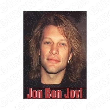 BON JOVI JON HEADSHOT MUSIC T-SHIRT IRON-ON TRANSFER DECAL #MBJ6