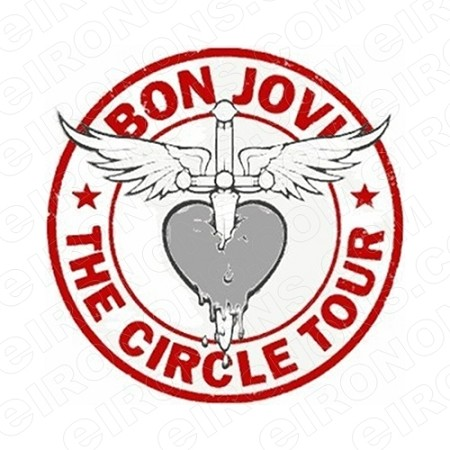 BON JOVI LOGO MUSIC T-SHIRT IRON-ON TRANSFER DECAL #MBJ2