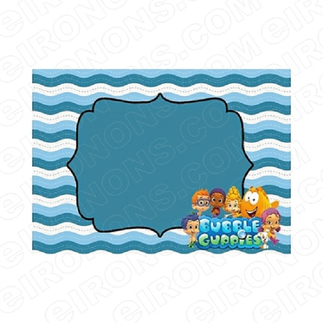 BUBBLE GUPPIES BLANK EDITABLE INVITATION INSTANT DOWNLOAD #IBG2