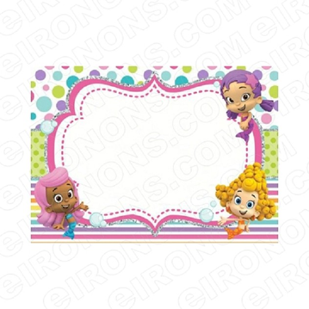 BUBBLE GUPPIES BLANK EDITABLE INVITATION INSTANT DOWNLOAD #IBG3