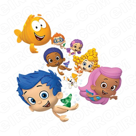 BUBBLE GUPPIES DIGITAL GROUP POSE CLIPART PNG IMAGE SCRAPBOOK INSTANT DOWNLOAD