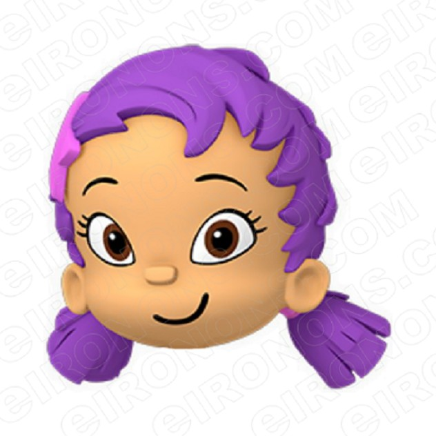 BUBBLE GUPPIES DIGITAL OONA BIG HEAD CLIPART PNG IMAGE SCRAPBOOK INSTANT DOWNLOAD