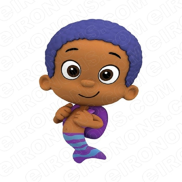 BUBBLE GUPPIES GOBY CHARACTER T-SHIRT IRON-ON TRANSFER DECAL #CBG7