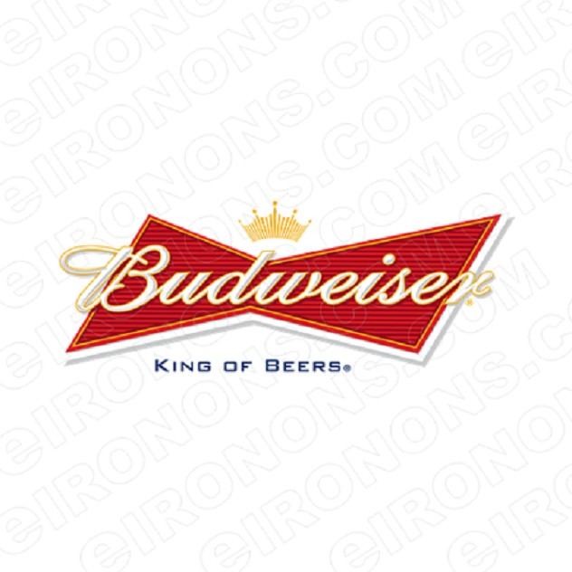 BUDWEISER KING OF BEERS LOGO ALCOHOL CLIPART PNG IMAGE SCRAPBOOK INSTANT DOWNLOAD