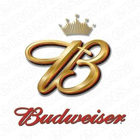 BUDWEISER LOGO ALCOHOL T-SHIRT IRON-ON TRANSFER DECAL #ABW4