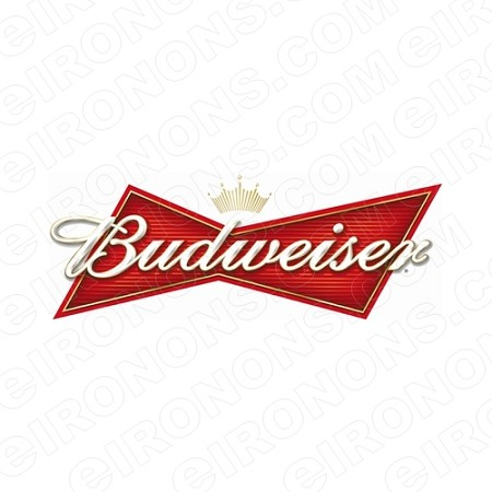 BUDWEISER LOGO ALCOHOL T-SHIRT IRON-ON TRANSFER DECAL #ABW1