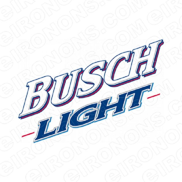 BUSCH LIGHT LOGO 1 ALCOHOL T-SHIRT IRON-ON TRANSFER DECAL #AB1