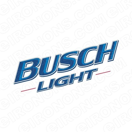 BUSCH LIGHT LOGO 2 ALCOHOL T-SHIRT IRON-ON TRANSFER DECAL #AB3