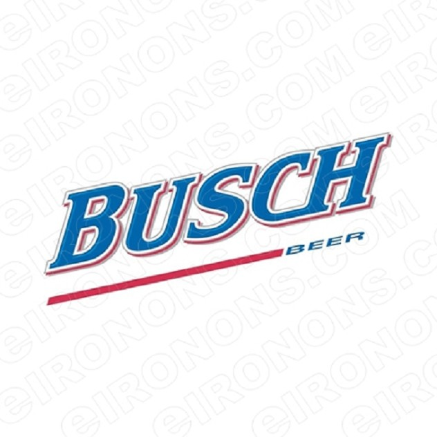 BUSCH LOGO ALCOHOL T-SHIRT IRON-ON TRANSFER DECAL #AB2