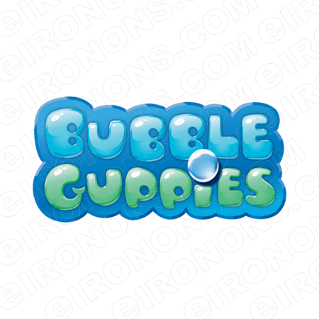BUBBLE GUPPIES LOGO CHARACTER T-SHIRT IRON-ON TRANSFER DECAL #CBG1