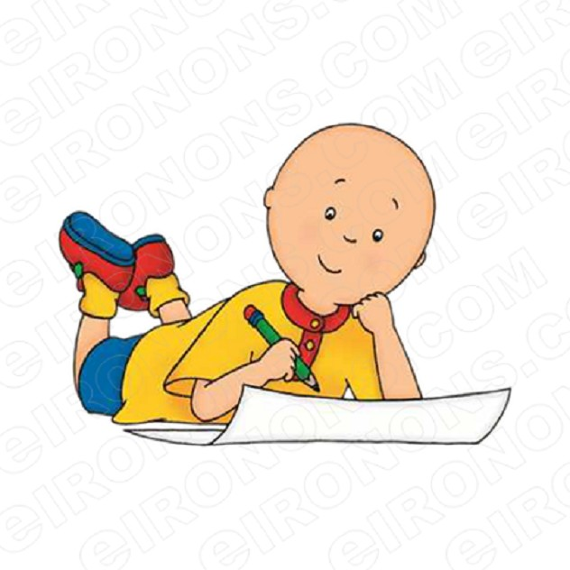 CAILLOU DRAWING CHARACTER T-SHIRT IRON-ON TRANSFER DECAL #CC1