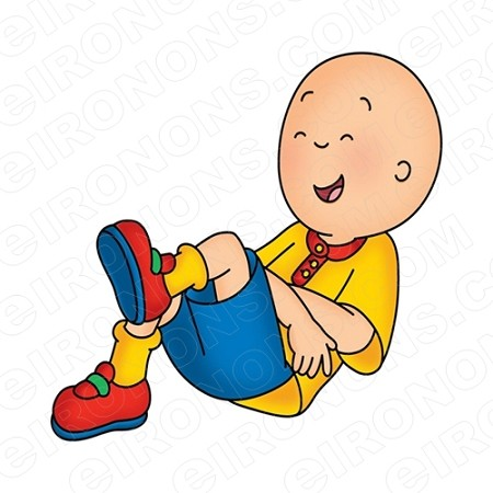 CAILLOU LAUGHING CHARACTER T-SHIRT IRON-ON TRANSFER DECAL #CC6