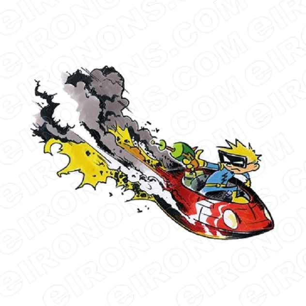 CALVIN AND HOBBES SPACEMAN SPIFF CRASHING CHARACTER T-SHIRT IRON-ON TRANSFER DECAL #CCAH14