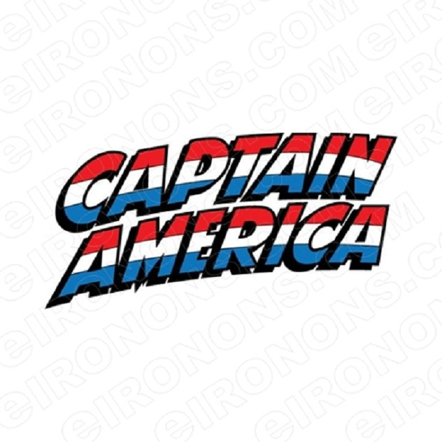 CAPTAIN AMERICA LOGO COMIC T-SHIRT IRON-ON TRANSFER DECAL #CCA1