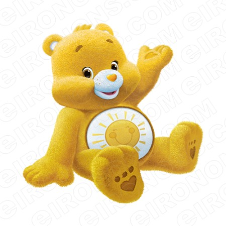 CARE BEARS FUNSHINE BEAR WAVING CHARACTER T-SHIRT IRON-ON TRANSFER DECAL #CCB3