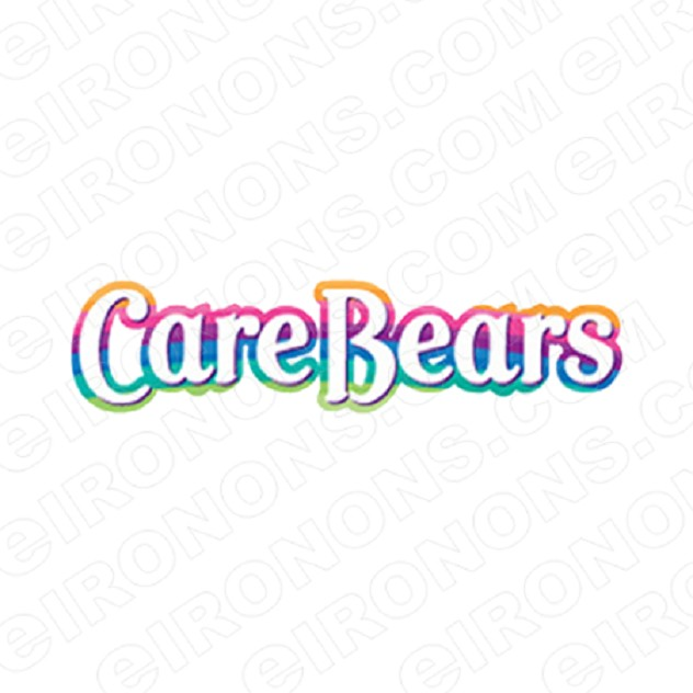 CARE BEARS LOGO CHARACTER T-SHIRT IRON-ON TRANSFER DECAL #CCB9