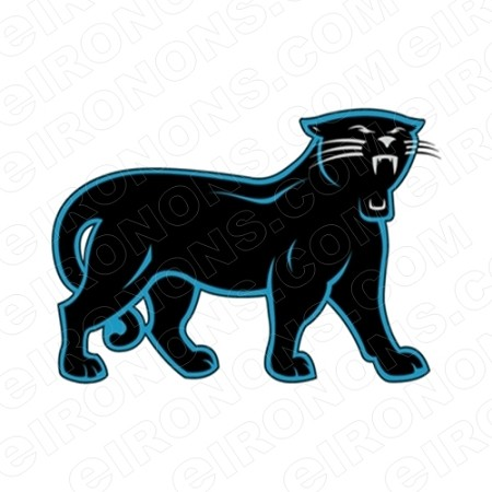 CAROLINA PANTHERS LOGO SPORTS NFL FOOTBALL T-SHIRT IRON-ON TRANSFER DECAL #SFCP3