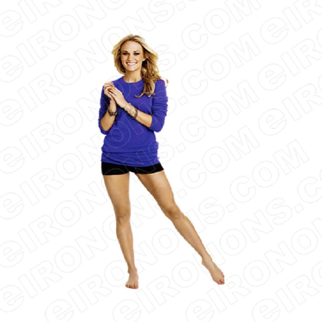 CARRIE UNDERWOOD IN BLUE MUSIC T-SHIRT IRON-ON TRANSFER DECAL #MCU3