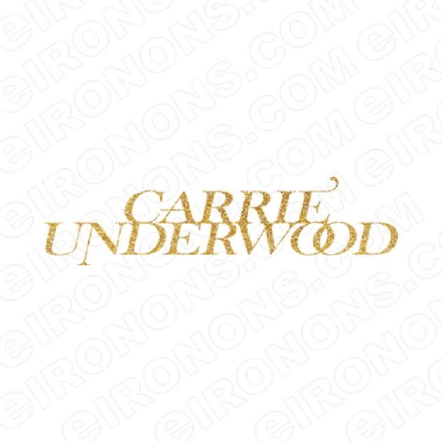 CARRIE UNDERWOOD LOGO GLITTER MUSIC T-SHIRT IRON-ON TRANSFER DECAL #MCU6