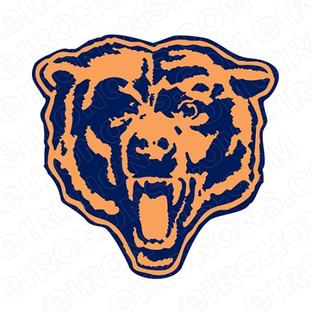 CHICAGO BEARS ALTERNATE LOGO 1963-1998 SPORTS NFL FOOTBALL T-SHIRT IRON-ON TRANSFER DECAL #SFBCB1