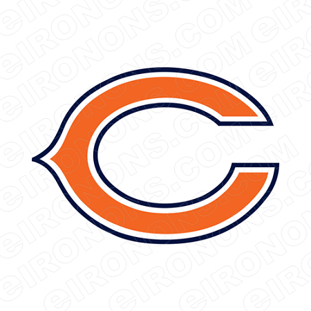 CHICAGO BEARS PRIMARY LOGO 1974 PRESENT SPORTS NFL FOOTBALL T-SHIRT IRON-ON TRANSFER DECAL #SFBCB9