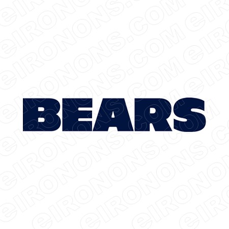 CHICAGO BEARS WORDMARK LOGO BLUE 1974-PRESENT SPORTS NFL FOOTBALL T-SHIRT IRON-ON TRANSFER DECAL #SFBCB10