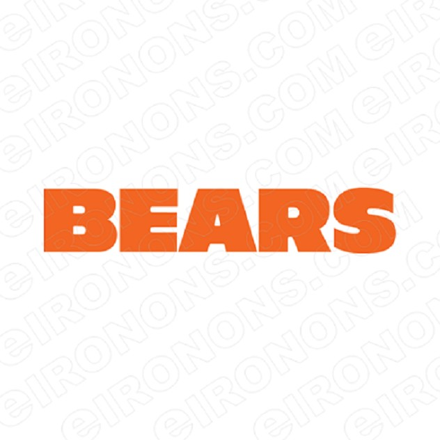 CHICAGO BEARS WORDMARK LOGO ORANGE 1974-PRESENT SPORTS NFL FOOTBALL T-SHIRT IRON-ON TRANSFER DECAL #SFBCB11