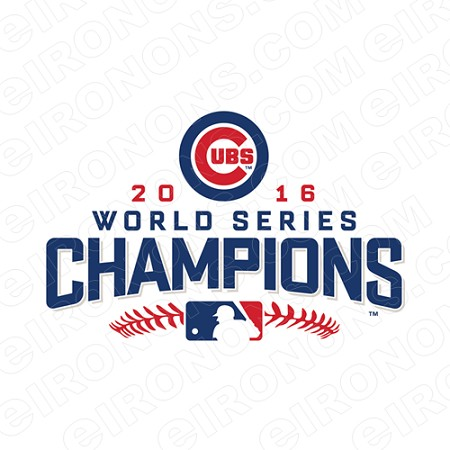 CHICAGO CUBS WORLD SERIES CHAMPIONS 2016 LOGO SPORTS MLB BASEBALL T-SHIRT IRON-ON TRANSFER DECAL #SBBCC5