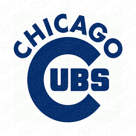CHICAGO CUBS WORDMARK LOGO 1979-PRESENT SPORTS MLB BASEBALL T-SHIRT IRON-ON TRANSFER DECAL #SBBCC4