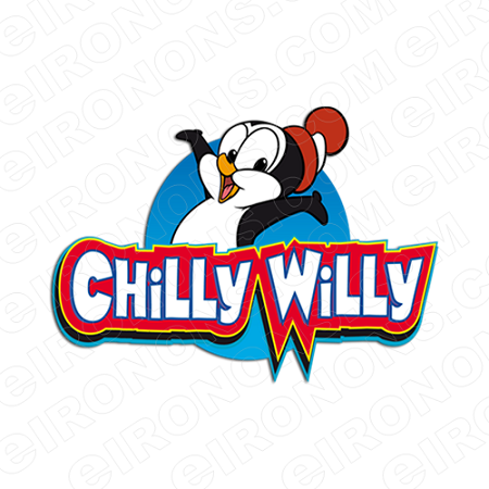 CHILLY WILLY ON LOGO CHARACTER T-SHIRT IRON-ON TRANSFER DECAL #CCW3