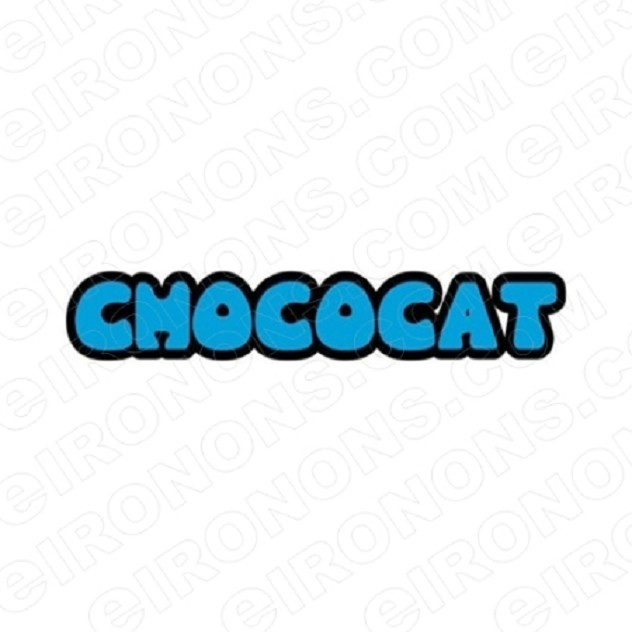 CHOCOCAT LOGO CHARACTER T-SHIRT IRON-ON TRANSFER DECAL #CCC3