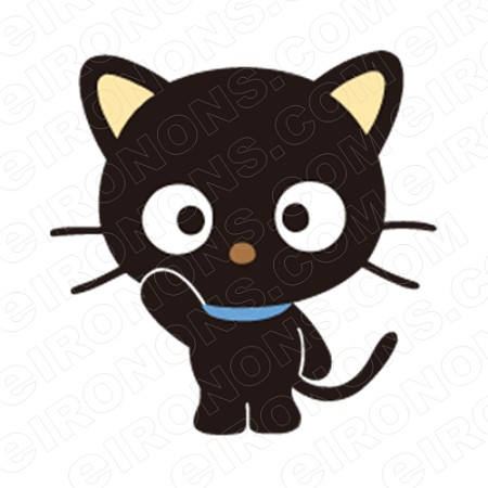 CHOCOCAT WAVING CHARACTER T-SHIRT IRON-ON TRANSFER DECAL #CCC7