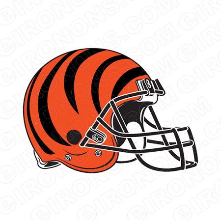 CINCINNATI BENGALS HELMET LOGO 1981 PRESENT SPORTS NFL FOOTBALL T-SHIRT IRON-ON TRANSFER DECAL #SFBCB5