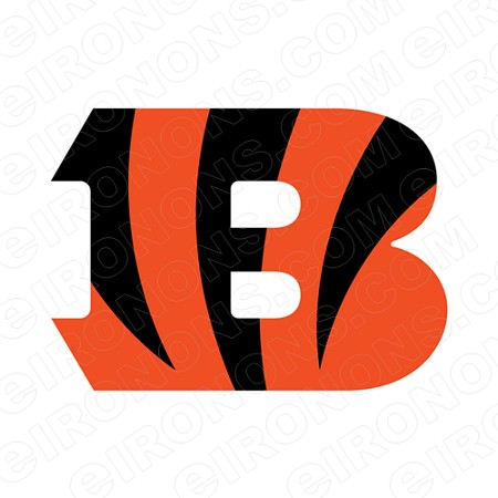 CINCINNATI BENGALS PRIMARY LOGO 2004 PRESENT SPORTS NFL FOOTBALL T-SHIRT IRON-ON TRANSFER DECAL #SFBCB7