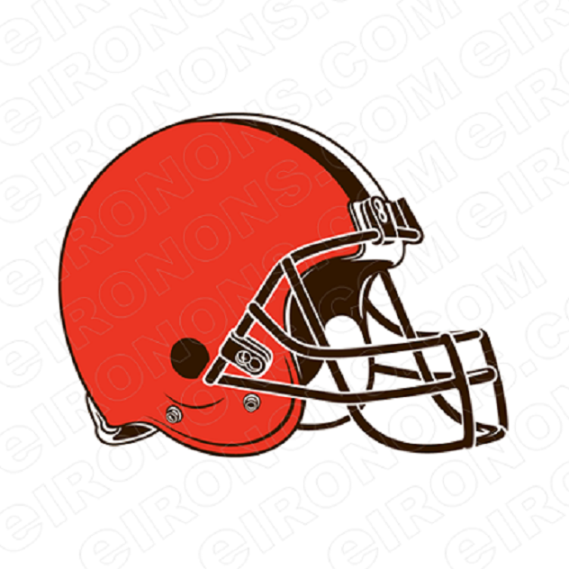 CLEVELAND BROWNS HELMET LOGO SPORTS NFL FOOTBALL T-SHIRT IRON-ON TRANSFER DECAL #SFCB1