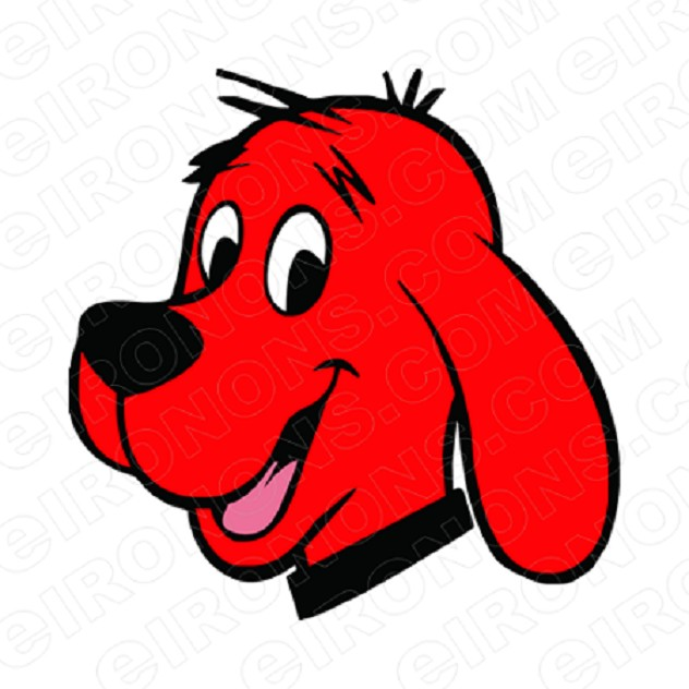 CLIFFORD THE BIG RED DOG BIG HEAD CHARACTER T-SHIRT IRON-ON TRANSFER DECAL #CCTBRD2