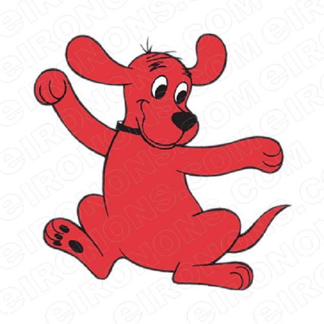 CLIFFORD THE BIG RED DOG DANCING CHARACTER T-SHIRT IRON-ON TRANSFER DECAL #CCTBRD4