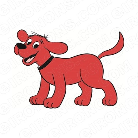 CLIFFORD THE BIG RED DOG HAPPY CHARACTER T-SHIRT IRON-ON TRANSFER DECAL #CCTBRD6