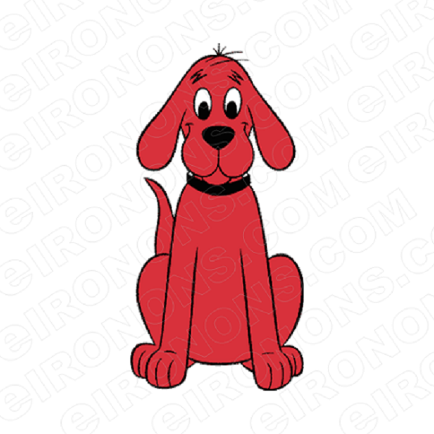 CLIFFORD THE BIG RED DOG SITTING CHARACTER T-SHIRT IRON-ON TRANSFER DECAL #CCTBRD10