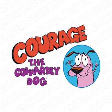 COURAGE THE COWARDLY DOG AND LOGO CHARACTER T-SHIRT IRON-ON TRANSFER DECAL #CTCD1