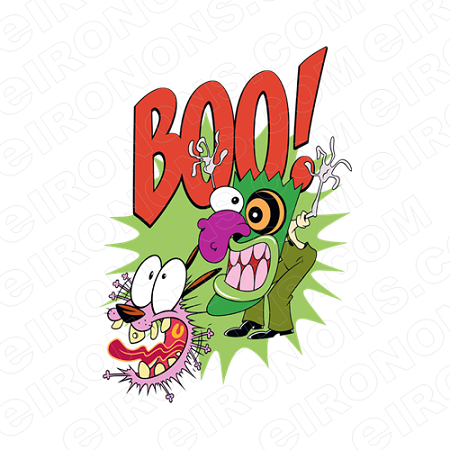 COURAGE THE COWARDLY DOG BOO! CHARACTER T-SHIRT IRON-ON TRANSFER DECAL #CTCD3